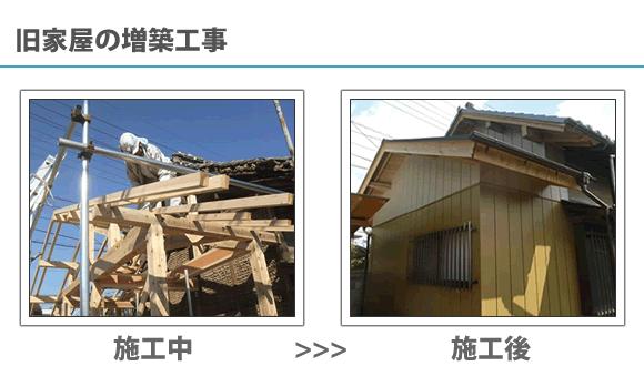 旧家屋の増築工事