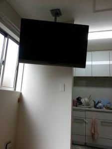天井取付TV